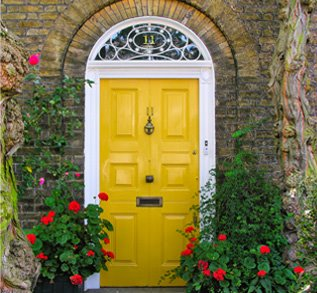 Spruce Up The Front Door By Touching Up Paint (either Paint Over Chipped Or  Fading Paint, Or Change The Color Completely), Adding A Kick Plate,  Changing Out ...