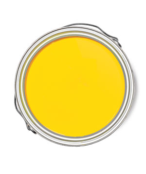 Yellow is a classic wall colour ...